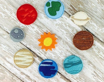 Solar System Feltie Embroidery Design
