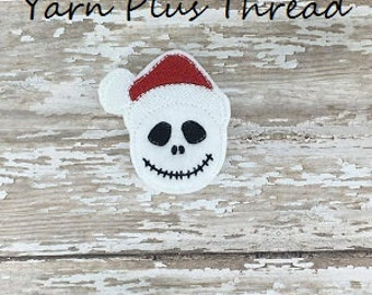 Christmas Skull Embroidery Design