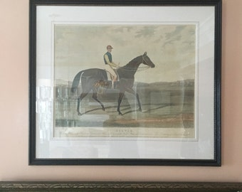 vintage equestrian horse riding print