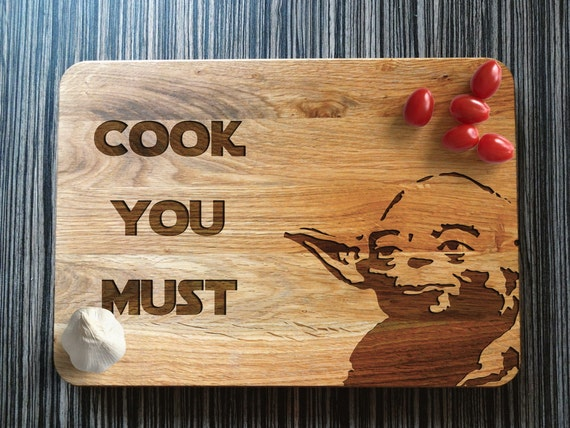 Cook You Must - Yoda Cutting Board