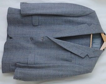 Meurice Prince of Wales Check Jacket - Blue 42R Euro 52