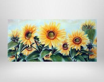 Sunflowers, flowers, original oil painting