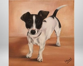 Custom, dog portrait, custom, personalized portrait, animal portraits, paintings after your personal photo template.