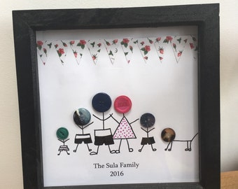 Button stick family frame