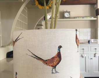 Beautiful hand made pheasant Lampshade made in Somerset