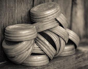 Zinc lid,antique,vintage,rustic,mason jar lid, glass jar lid,candle jar lids,galvanized metal lid, small mouth mason jar.