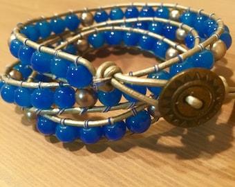 Blue Sapphire Wrap Bracelet