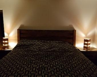 Custom Cedar LED Lamps