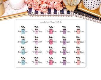 Clean Brushes Stickers- Makeup Brush, Life Planner Stickers, Erin Condren, Functional stickers.