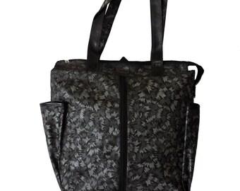 Ladies Shopping Bag- Tote Bag-Silver pearl print Non woven Bag-Extendable Tote bag-Casual Everyday Bag-Shoulder Bag-Eco Friendly Bag