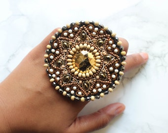 Statement Ring | Beaded Ring | Chunky Ring