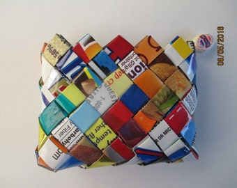 Recycled Candy Wrapper Coin Purse