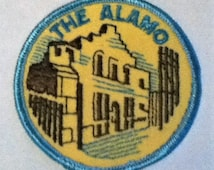 Vintage The Alamo Sew On Patch