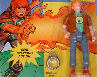 Planeteer Wheeler from Captain Planet Vintage 1991 Action Figure Tiger Toys MOC