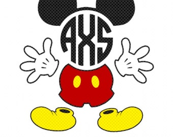 Mickey Mouse monogrammed decal/ car decal/ phone decal/ tumbler decal