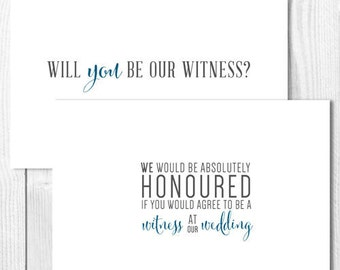 A6 Will You Be Our Witness - Wedding Card with Envelope