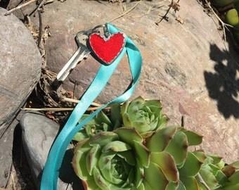 Heart Reflector Keychain