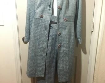 Larry Levine 2 piece blue suit