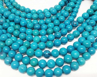 "1 Strand 6mm TURQUOISE Beads, wholesale beads, natural beads, semi precious stones, 15 1/2"" length, round beads, Wholesale Gems"