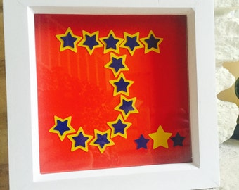 Personalised Initial Stars BoxFrame