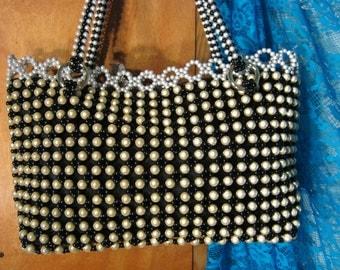 Classic Looking Beaded Evening Purse Handbag Tote