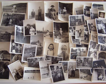 50 Vintage Photographs of Children 1930s-1950s Portraits Holidays etc