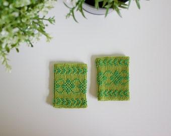 Handmade Paulina Wristbands | Green
