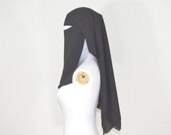 Saudi Three Layered Black Niqab