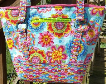 Hippy Chick - Large Titania tote/purse, pattern by RLR Creations - hand crafted by me