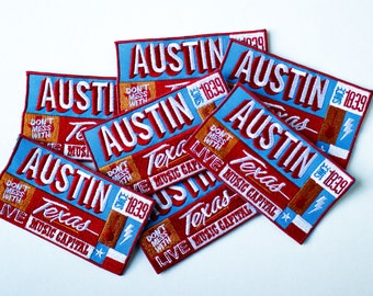 Austin 6th Street Mural Patch Embroidered