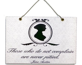 Handmade Wooden Jane Austen Quote 205