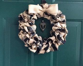 Black and burlap wreath