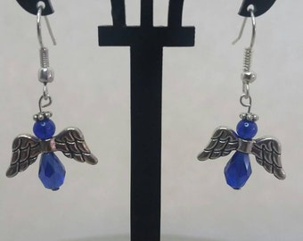 angel crystal earrings  (multiple colors available)