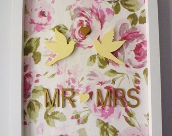 Mr & Mrs Birds Collage Print