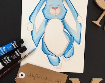 Australia rabbit kids art abstract art painting animal nature decoration