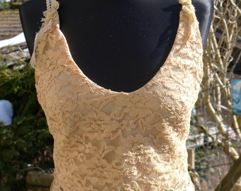 Golden Lace Top