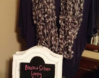 Shimmery black and silver scarf