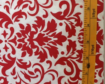 Marshall Dry Goods Damask Delight, Red/White, MDG Quilting Fabric