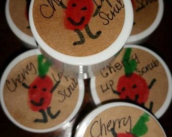 Organic cherry lip scrub .25 oz