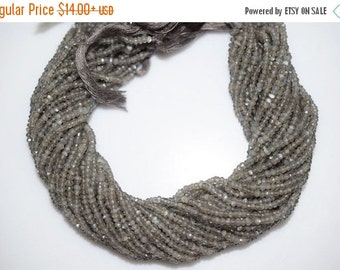 45% OFF Good Quality Gray Moonstone Rondelle Beads 13 Inch Strand ,Gray Moonstone Faceted Rondelle Beads , 3-3.50 mm - MC403
