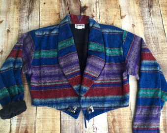 90s Retro/Hipster Southwestern Striped Cardigan