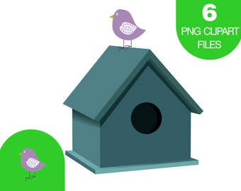 Clip art bird house – Etsy
