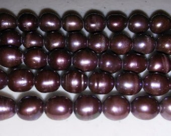 SALE! Eggplant pearls purple pearls 6x8mm pearls pearl beads natural pearls