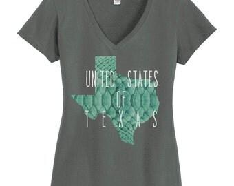 U.S of T V-Neck T-Shirt