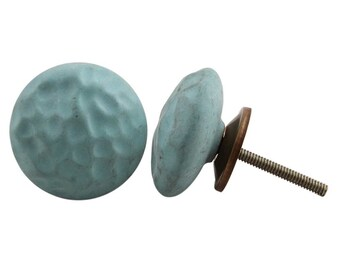 Duck Egg Blue Ceramic Draw Knob, Drawer Pull, Draw Handle