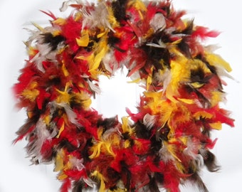 Quality Mix Fall Feather Wreath
