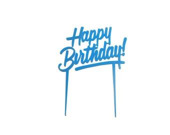 Happy Birthday Cake Topper - Birthday Cake Decoration - Set of 1