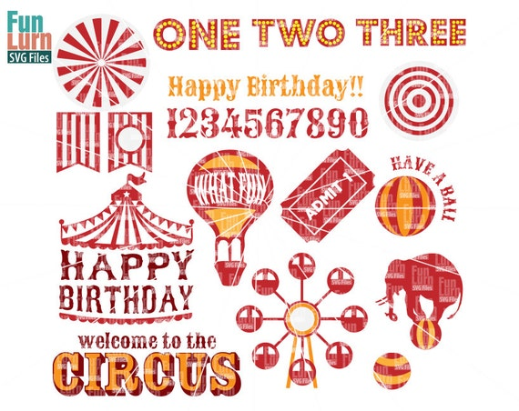 Carnival Theme Birthday Svg Circus Theme Tent Elephant Hot