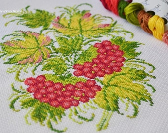 Guelder rose berries - Cross Stitch Pattern PDF - Instant download