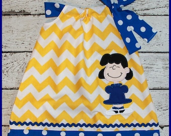 Peanuts Lucy Pillowcase style dress Charlie Brown friend